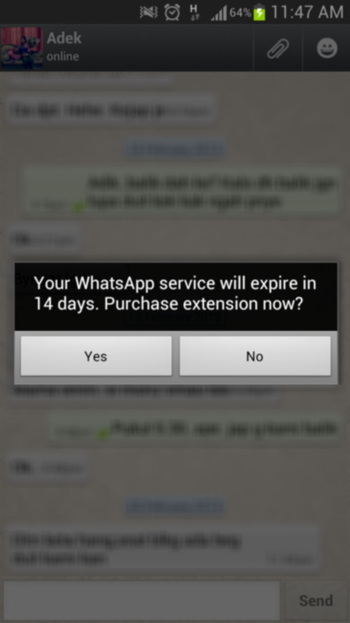 WhatsApp Expired