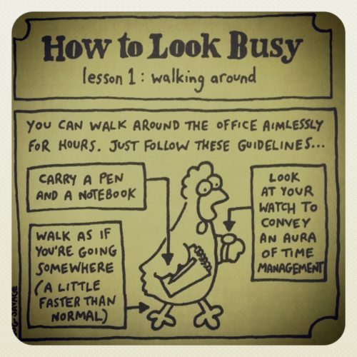 how to look busy 1
