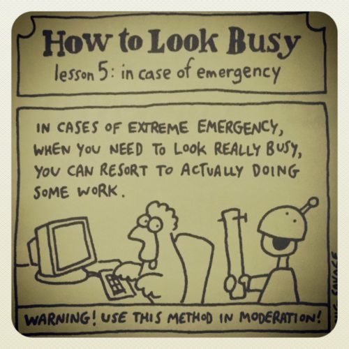 how to look busy 5