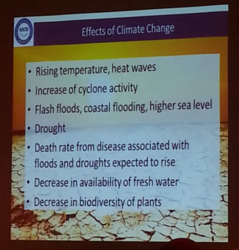 Effect of climate change