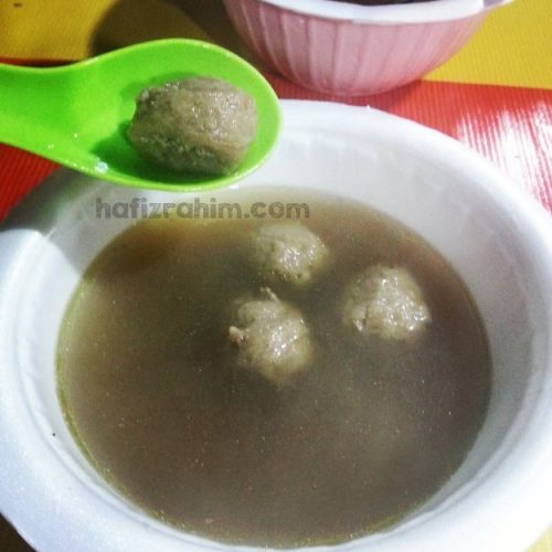 Sup bebola daging paling sedap