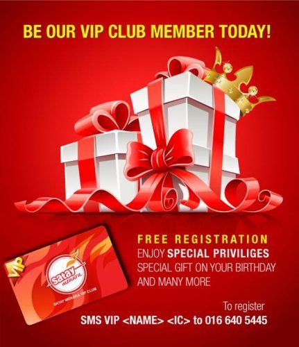 Satay Menara-VIP member-registration