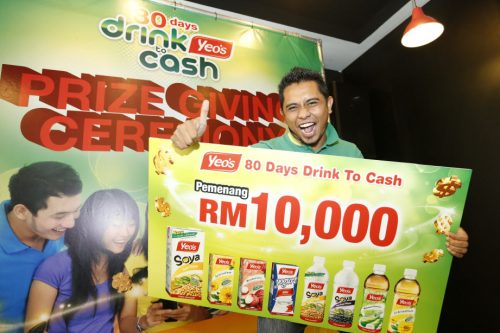 Pemenang RM10000 Yeo's 80 days drink to cash contest