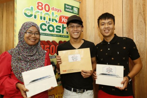 Pemenang ipad Yeo's 80 Days Drink To Cash