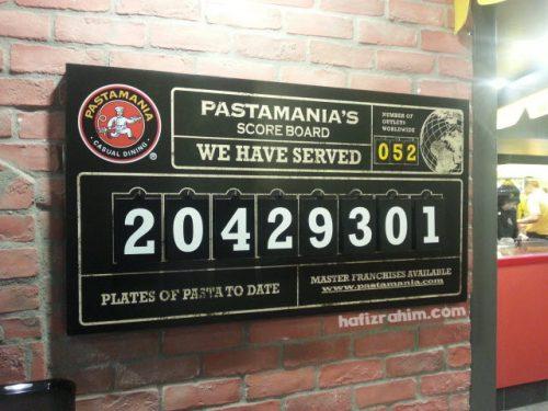 Pastamania KLIA2 - scoreboard