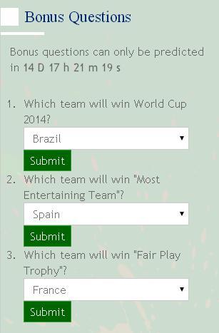 Worldcup 2014 winner prediction