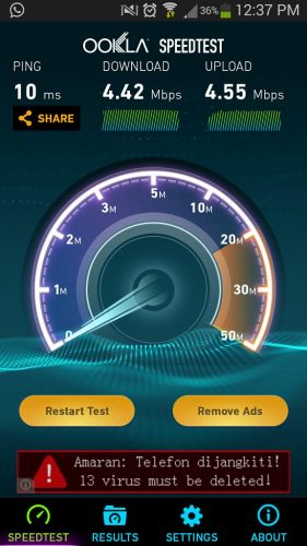 speed test unifi bangi seksyen 3 tambahan