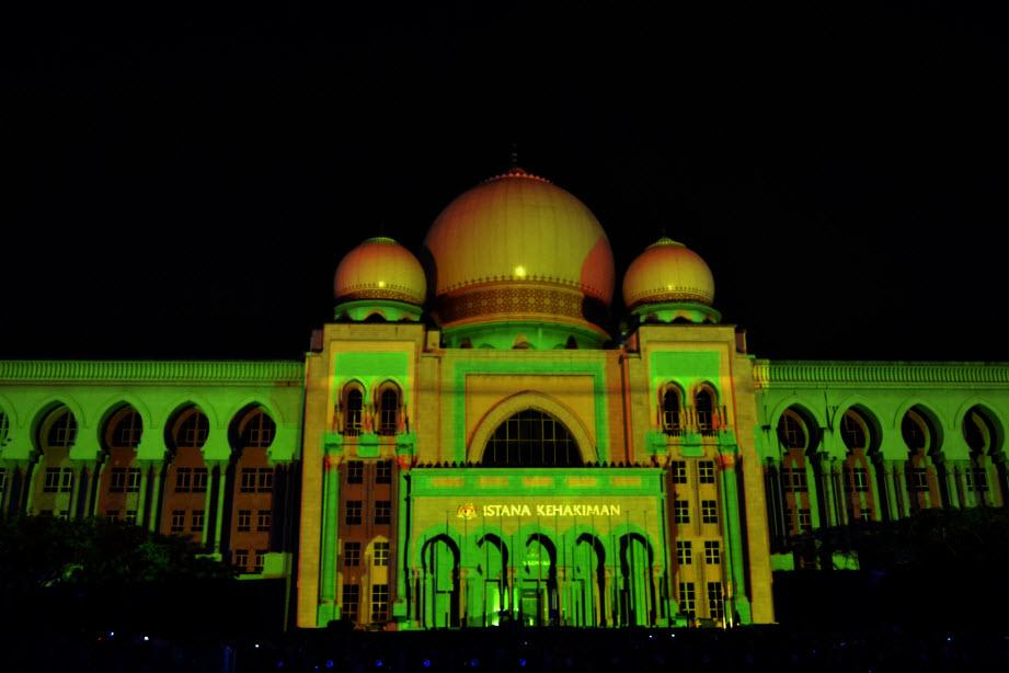 LAMPU Light Of Motion Putrajaya 2014-kuning hijau