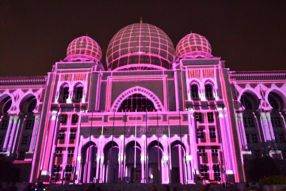 LAMPU Light Of Motion Putrajaya 2014-ungu tron
