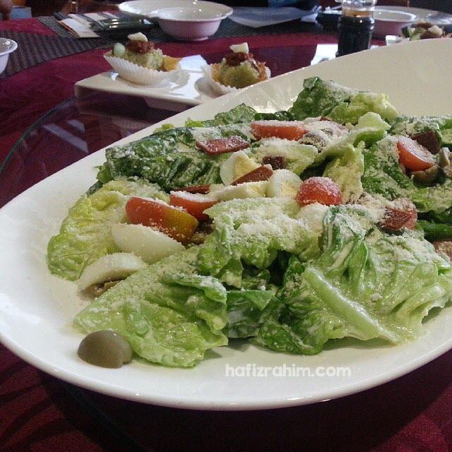 Mediterranean Caesar Salad with Quail Eggs by deHouse