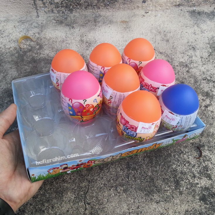 Egg Candy-Mainan dalam telur