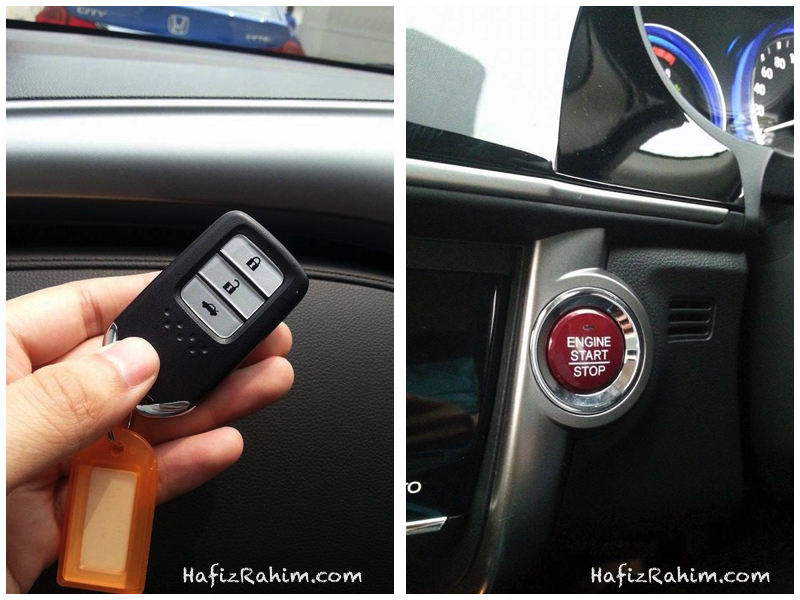 Keyless remote & Push start button Honda City