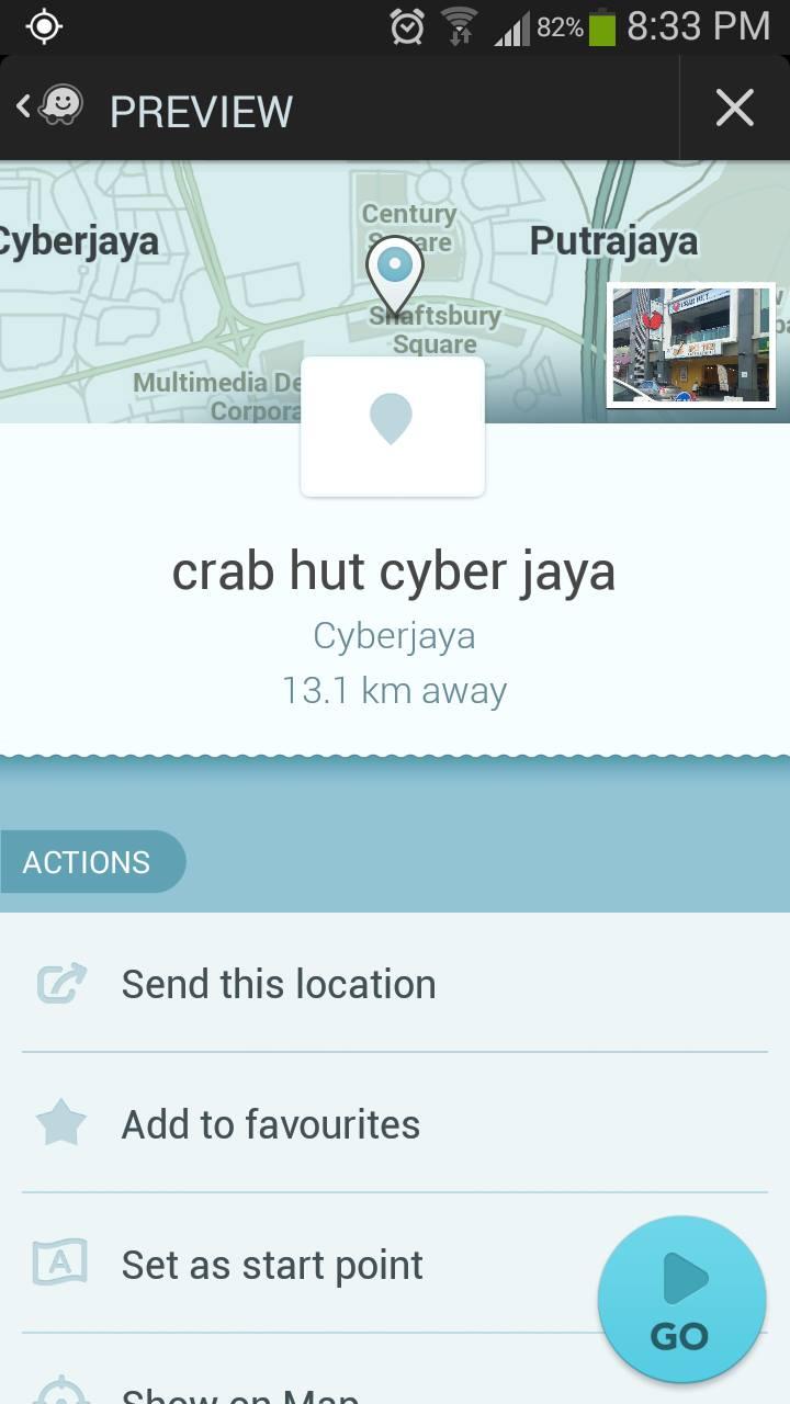 Map ke Crab Hut Cyberjaya