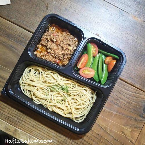 Spaghetti, Passata Mince Beef, Sweet Peas & Cherry Tomato